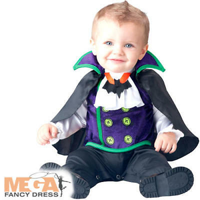 Count Dracula 0-24 Months Baby Fancy Dress Halloween Vampire Infant Costume New