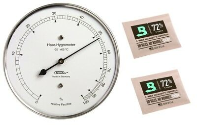 Fischer Haar-Hygrometer Made in Germany mit Calibration Kits