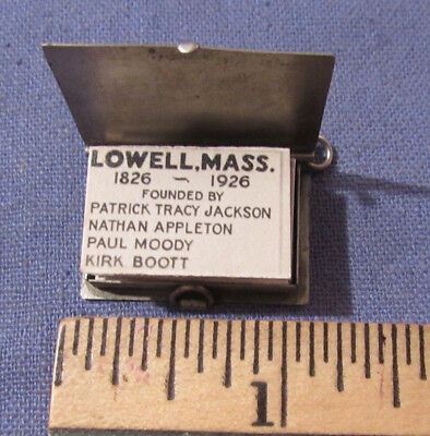 Vintage 1926 Anniversary Lowell Ma Fold Out Photo Picture Charm 21 Views