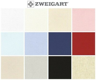 ZWEIGART AIDA CROSS STITCH FABRIC - 16ct, Various Colours / Sizes*