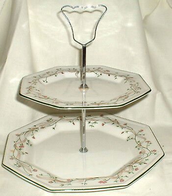 Eternal Beau Johnson Brothers Two Tier Cake Stand Afternoon Tea