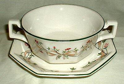 Johnson Brothers Eternal Beau One Soup Bowl Coupe With Saucer ~  Nine Available
