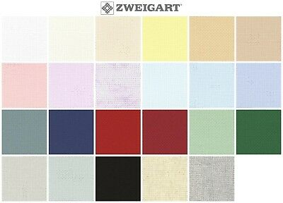 ZWEIGART AIDA CROSS STITCH FABRIC - 14ct, Various Colours / Sizes*