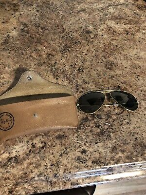 Vintage Bausch & Lomb Ray-Ban Aviator Glasses & Case