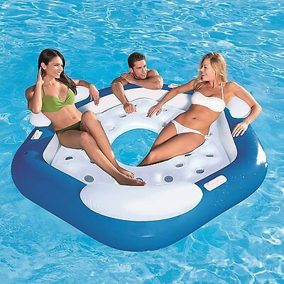 Bestway 3 Person Inflatable Floating Island Swimming Pool Lake Tube Float Raft