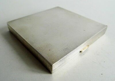 STUNNING OLD ALFRED DUNHILL SOLID SILVER POWDER COMPACT - BIRMINGHAM 1967 - 118g
