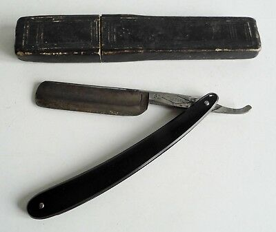 Antique Ressel Cut Throat / Straight Razor - Made In Germany - Rare Old Case