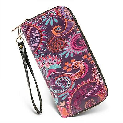 Women's Long Wallet Clutch RFID Blocking Credit Card Holder Money Wristlet Purse