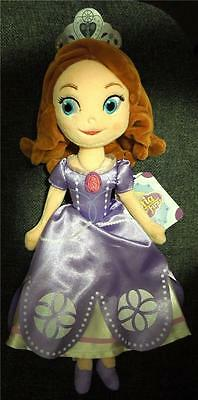 """Disney Sofia The First 13"""" Plush Doll New with tags"""