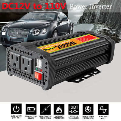 Solar Power Inverter 2000 Watt 12 V DC Zu 110 V AC Geändert Sinus Converter 2-US