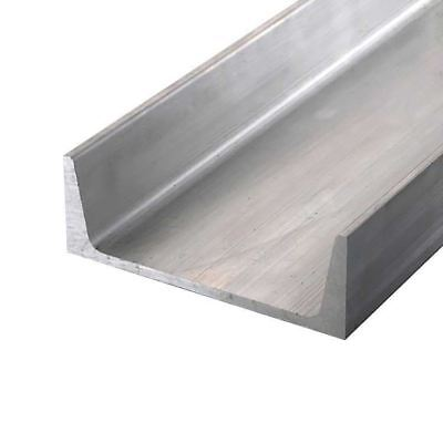"Aluminum Channel, American Std, 6061-T6, Width: 3"", Height: 1.5"", Length: 72"""