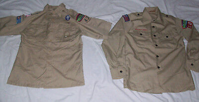 2 Boy Scout Shirts Youth Large 14-16 Short & Long Sleeves