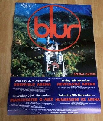 Blur Original Promo Tour Poster 1995 Please See Pictures