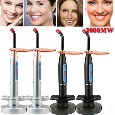 2018 Dental 10W Wireless Cordless LED Curing Light Lamp 2000mw Dentist Whitening