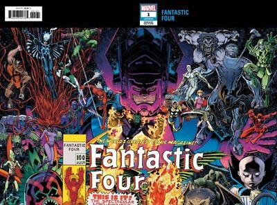 Fantastic Four #1 Adams Connecting Wrap Variant Marvel Slott Fourever Pt1 8818