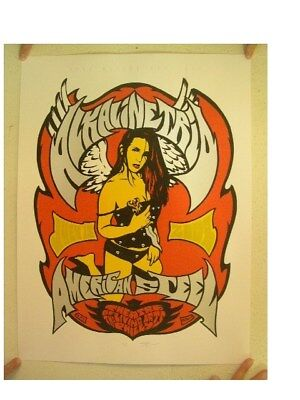 Alkaline Trio Poster American Steel Signed And Numbered By Artist Billy Perkins