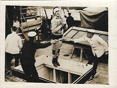 Antique WWI Photograph~Naval Raid on Ostend~Wounded Sailor from HMS Vindictive