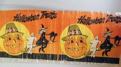Vintage Brach's Candy Halloween Treats Large Store Display Advertising Poster