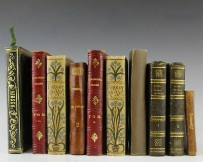 Lot 10 Antique 18th 19th 20th Century Books w/ Leather Bound Diff. Languages JBD