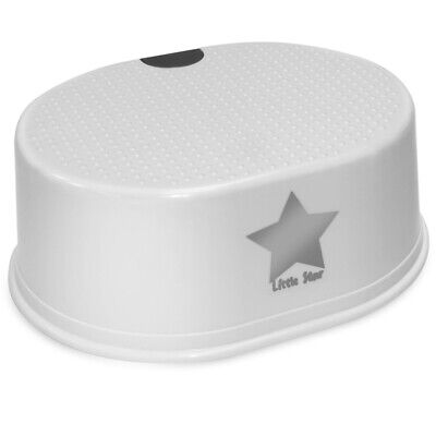 Strata Deluxe Step Up Stool (white Star) - Toilet Training Toddler Silver