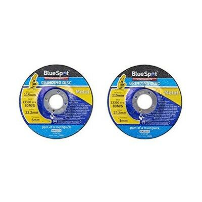 "Bluespot Twin Pack 115mm (4.5"") Metal Grinding Discs"
