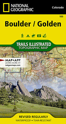 National Geographic Trails Illustrated Colorado Boulder Golden Topo Map 100