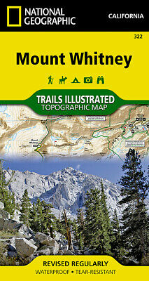 National Geographic Trails Illustrated California Mount Whitney Topo Map 322