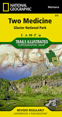 National Geographic Trails Illustrated Montana Glacier NP Two Medicine Map 315