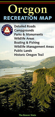 National Geographic Benchmark Oregon OR Recreation/Public Land/Hunting/Road Map
