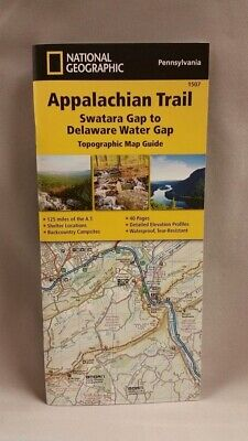National Geographic Appalachian Trail Map Guide PA Swatara Gap-DE Water Gap 1507