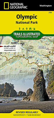 National Geographic Trails Illustrated WA Olympic National Park Map 216
