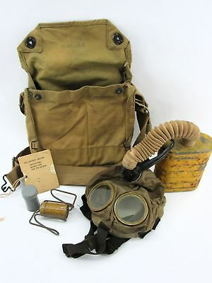 WWI US Army Gas Mask, Tank and Haversack