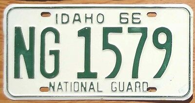 1966 Idaho National Guard License Plate Number Tag – NICE PLATE