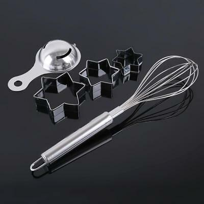 Stainless Steel Egg Beater Egg White Separator Cake Shaper 3PC/Set Y