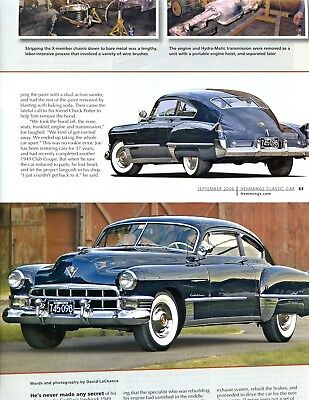 1949 CADILLAC CLUB COUPE RESTORATION 6 PG COLOR Article