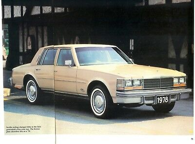 1976 1977 1978 1979 Cadillac Seville 4 Pg Color Article