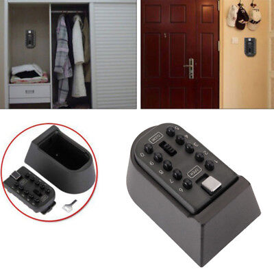 Key Safe Storage Box Wall Mount Home Security Outdoor Digit Combination Lock Box