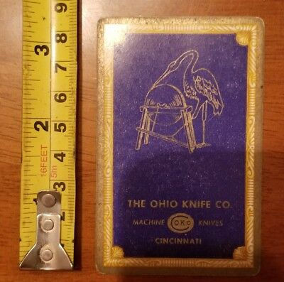 Rare Old Company Playing Card Single Ohio Knife Okco 606 Congress 6 Diamonds