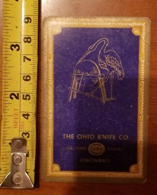 Rare Old Company Playing Card Single Ohio Knife Okco 606 Congress 7 Diamonds