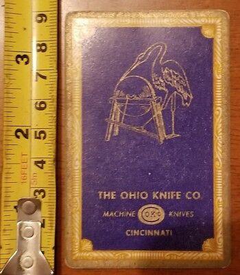Rare Old Company Playing Card Single Ohio Knife Okco 606 Congress 9 Diamonds