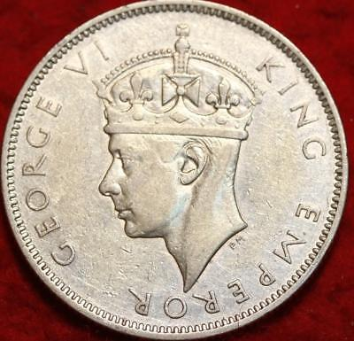 1941 Fiji One Silver Florin Foreign Coin