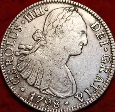 1798 Mexico 8 Reales Silver Foreign Coin
