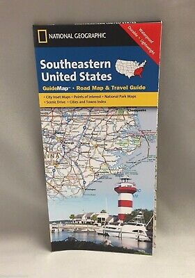 NATIONAL GEOGRAPHIC SOUTHERN California, USA GuideMap, Road Map ...