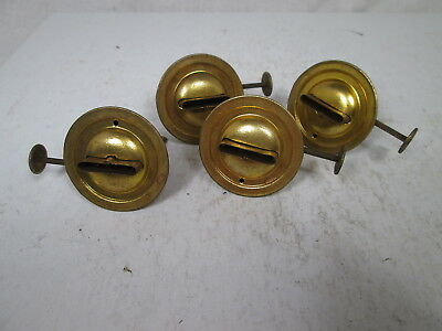 "4 Brass Lantern Fount Burners - 1 3/16"" Diameter Base - Made by Miller"