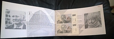 1995 One Hundred X 2 - Fraser/cole - *uncut Pair* - In Folder - 700 Issued Only