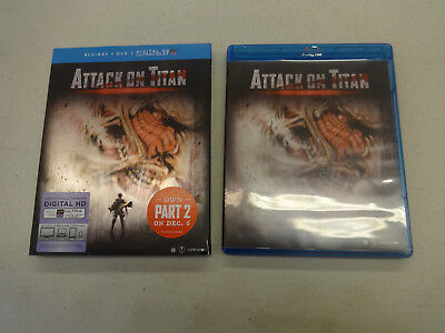 Attack on Titan: The Movie Part 1 (Blu-ray/DVD, 2016, 2-Disc Set), Used