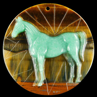 Carved Horse Bead CD EJ600068