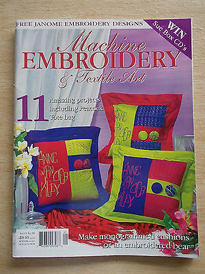 Machine Embroidery & Textile Art Vol 13 #4~Quilts~Peacock~Bags~Sunflowers~Bear