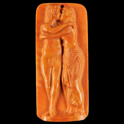 Carved Adam And Eve Bead C EE514025