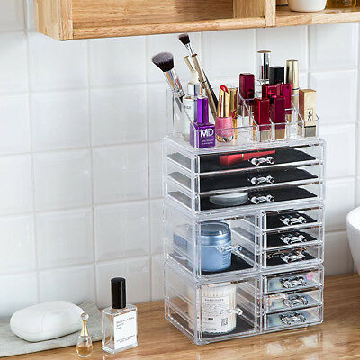 Changeable Acrylic Cosmetic Tower Organizer Lipstick Makeup Display Case